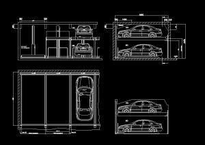 دانلود پروژه طراحی نقشه و پلان پارکینگ دو طبقه