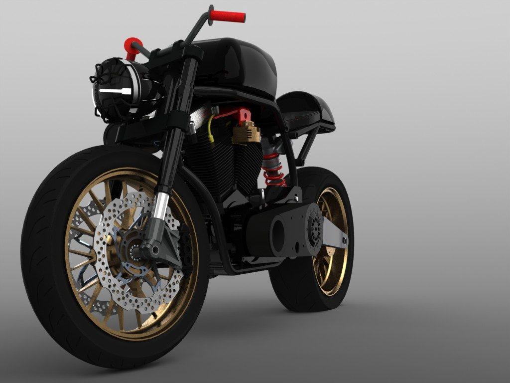 دانلود پروژه طراحی موتور سیکلت