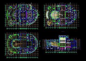 دانلود پروژه طراحی نقشه و پلان سالن اپرا (تالار تئاتر)
