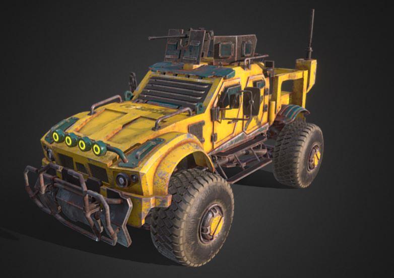 دانلود پروژه طراحی خودرو زرهی اوشکوش ال ای تی وی