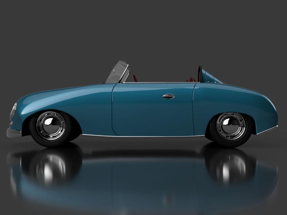 دانلود پروژه طراحی خودرو کلاسیک پورشه Porsche 356 Speedster (5)