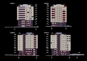 دانلود پروژه طراحی نقشه و پلان مجتمع اداری مدرن (2)
