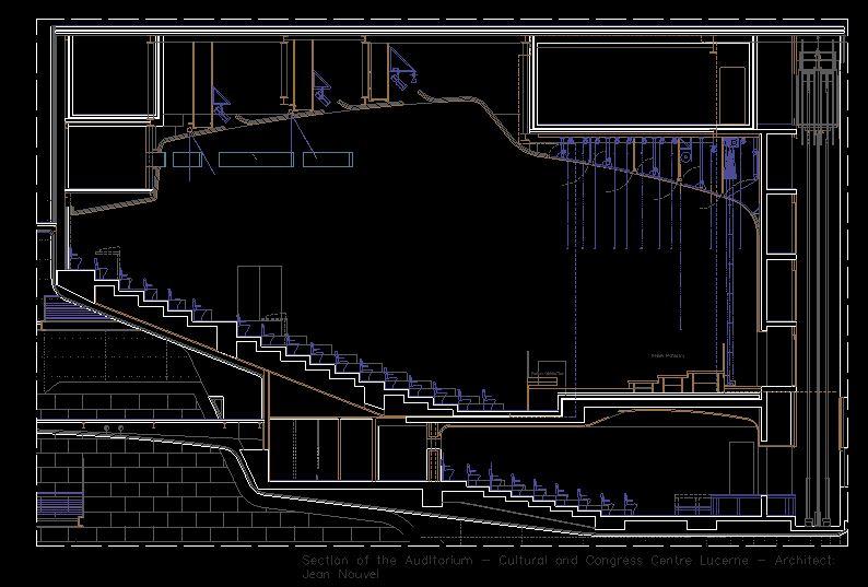 دانلود پروژه طراحی نقشه و پلان مرکز همایش