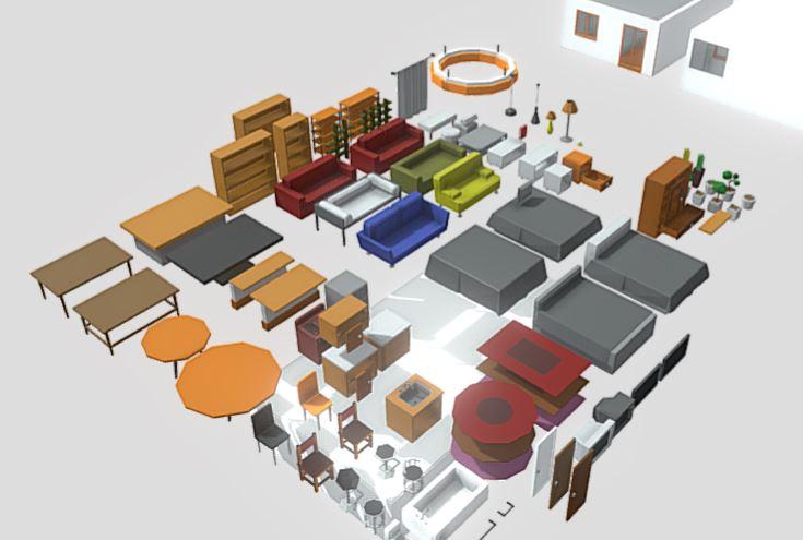 دانلود پروژه طراحی آبجکت های دکوراسیون داخلی