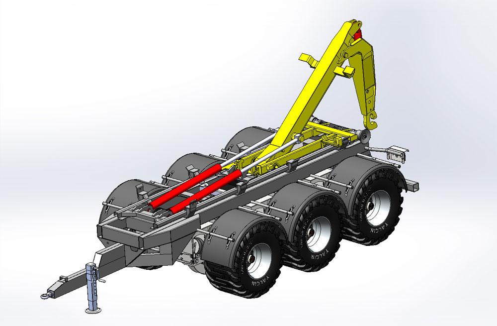 دانلود پروژه طراحی تریلر قلابدار کامیون (هوک لیفت پالفینگر) (2)