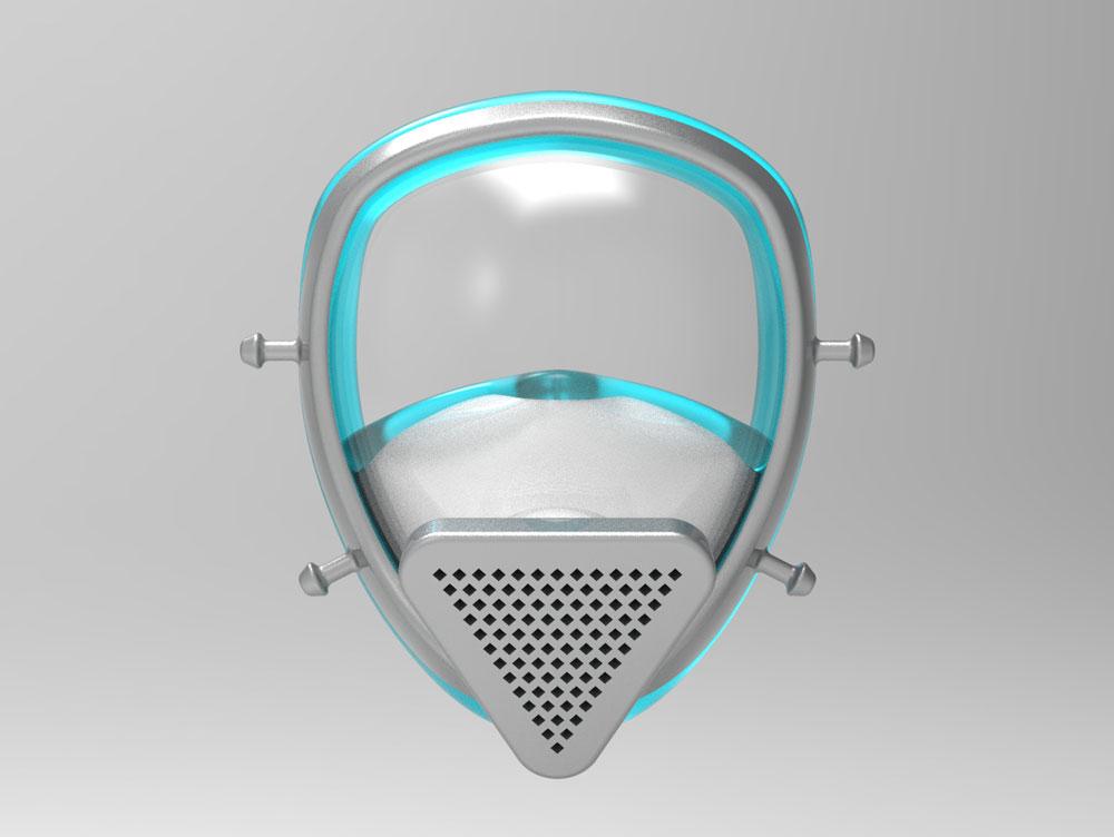 دانلود پروژه طراحی شیلد محافظ صورت فیلتر دار پزشکی (2)