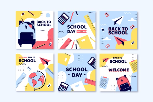 دانلود پروژه طراحی قالب لایه باز پست اینستاگرام بازگشت به مدرسه