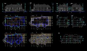 دانلود پروژه طراحی نقشه و پلان ویلای دو طبقه بزرگ و مدرن (15)
