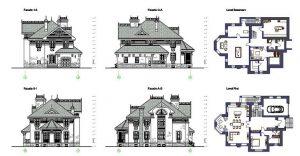دانلود پروژه طراحی نقشه و پلان ویلای دو طبقه مدرن (17)