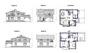 دانلود پروژه طراحی نقشه و پلان ویلای دو طبقه کوچک (18)