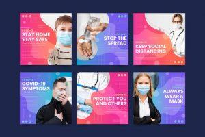 دانلود پروژه طراحی قالب لایه باز پست اینستاگرام پزشک پرستار و کرونا (2)
