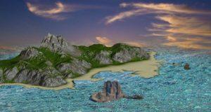 دانلود پروژه طراحی جزیره (دریا ساحل کوه آسمان)