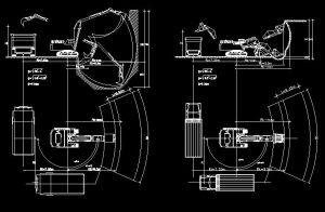 دانلود پروژه طراحی نقشه سه نمای بیل مکانیکی