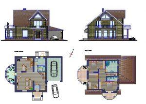 دانلود پروژه طراحی نقشه و پلان خانه ویلایی کوچک (کم جمعیت) (19)