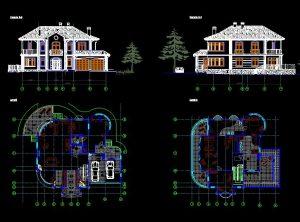 دانلود پروژه طراحی نقشه و پلان ویلا سبک توسکانی (20)