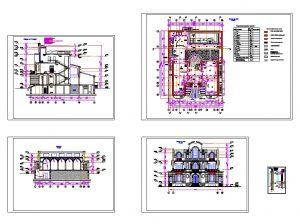 دانلود پروژه طراحی نقشه و پلان ویلا سبک قصر (21)