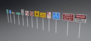 دانلود پروژه طراحی انواع تابلو علائم راهنمایی رانندگی