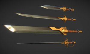 دانلود پروژه طراحی انواع شمشیر باستانی