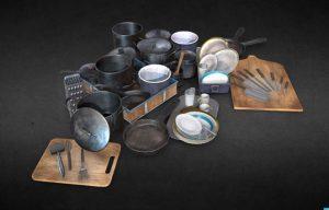 دانلود پروژه طراحی انواع ظروف و ابزار آشپزخانه رستوران