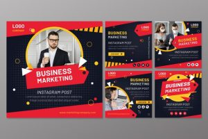 دانلود پروژه طراحی قالب لایه باز پست و استوری اینستاگرام بازاریابی و فروش (1)