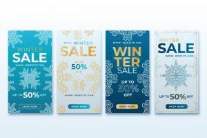 دانلود پروژه طراحی مجموعه قالب لایه باز استوری اینستاگرام فروش زمستانه (5)