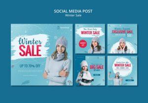 دانلود پروژه طراحی مجموعه قالب لایه باز پست اینستاگرام فروش زمستانه (1)