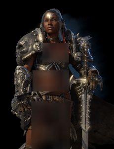 دانلود پروژه طراحی مدل سلاح و لباس زن جنگجوی باستانی (1)