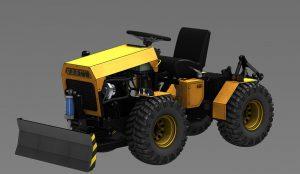دانلود پروژه طراحی مینی تراکتور Mini Tractor 4x4