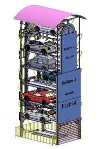 دانلود پروژه طراحی پارکینگ مکانیزه روتاری (چرخ و فلکی) (1)