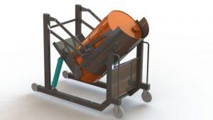 دانلود پروژه طراحی چرخ دستی حمل بشکه