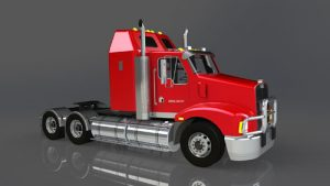 دانلود پروژه طراحی کامیون کنورث T401 (1)