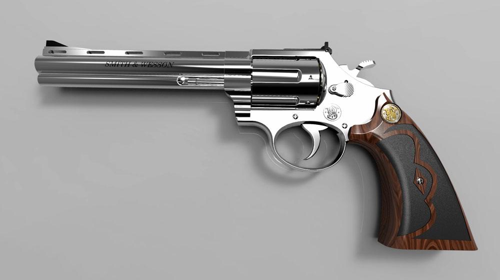 دانلود پروژه طراحی اسلحه رولور اسمیت اند وسون 44