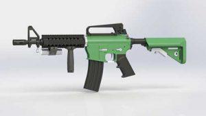 دانلود پروژه طراحی اسلحه MK18