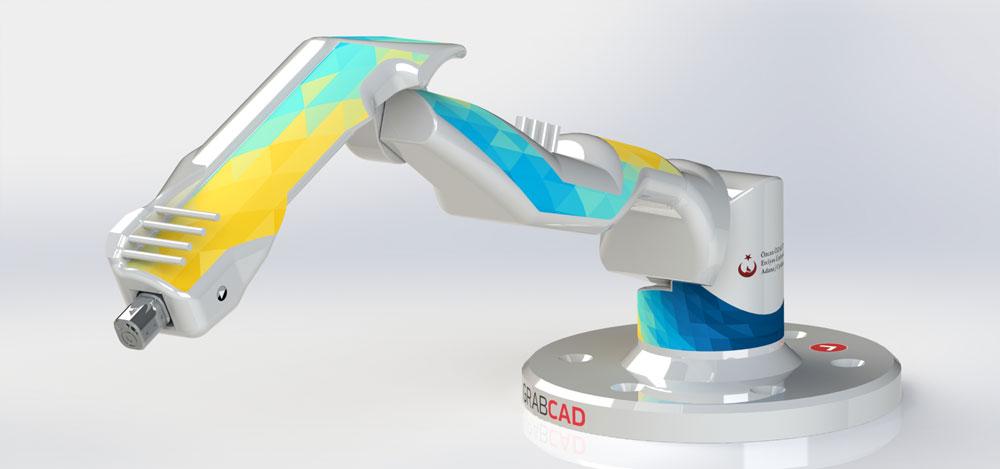 دانلود پروژه طراحی بازوی رباتیک صنعتی یورو 1500