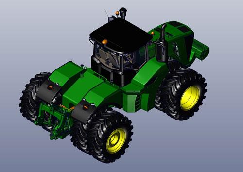 دانلود پروژه طراحی تراکتور 8 چرخ جاندیر 9620R (3)