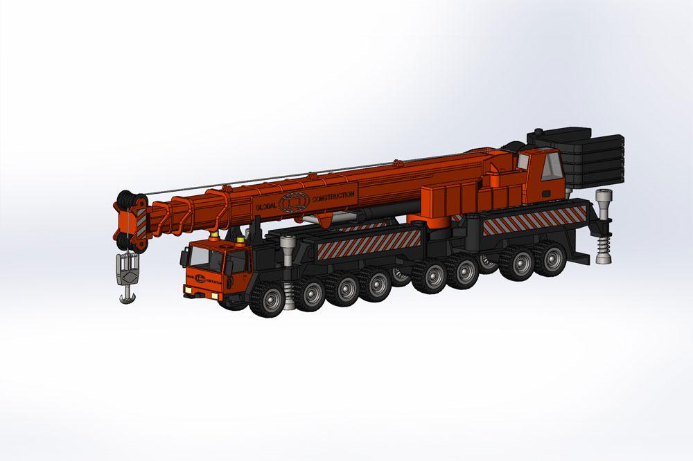 دانلود پروژه طراحی جرثقیل کامیونی (2)