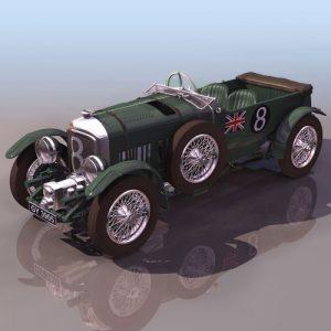 دانلود پروژه طراحی خودرو بنتلی 1929 Blower Bentley