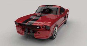 دانلود پروژه طراحی خودرو فورد موستانگ النور 1967