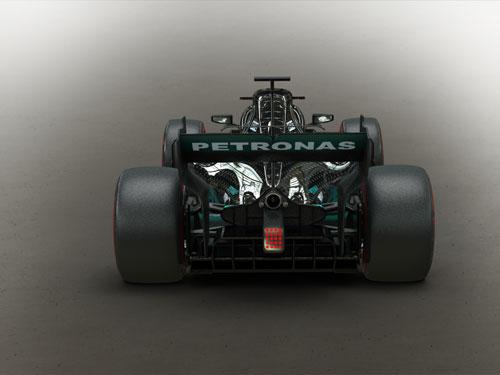 دانلود پروژه طراحی خودرو مسابقه فرمول یک مرسدس بنز (4)