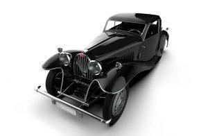 دانلود پروژه طراحی خودرو کلاسیک بوگاتی کوپه