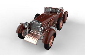 دانلود پروژه طراحی خودرو کلاسیک هیسپانو سویزا H6B