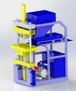 دانلود پروژه طراحی دستگاه تولید آجر هیدرولیکی (2)