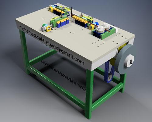 دانلود پروژه طراحی دستگاه ساخت فنر اتوماتیک