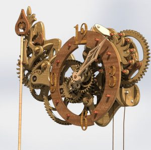 دانلود پروژه طراحی ساعت دیواری چوبی چرخدنده (1)