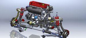 دانلود پروژه طراحی سیستم تعلیق و جلوبندی خودرو هوندا سیویک
