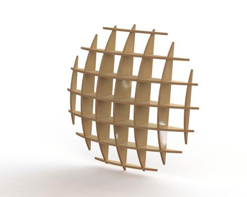 دانلود پروژه طراحی قفسه چوبی مدرن (2)