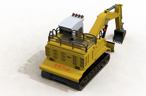 دانلود پروژه طراحی لودر بیل مکانیکی چرخ زنجیری (2)