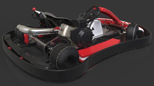 دانلود پروژه طراحی ماشین کارتینگ Go-kart (2)