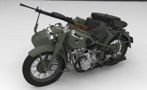 دانلود پروژه طراحی موتورسیکلت نظامی m72 (1)