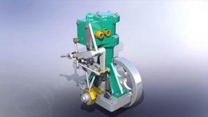 دانلود پروژه طراحی موتور بخار عمودی